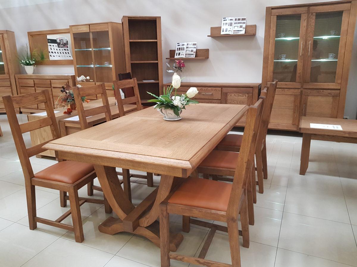 stol debowy orzech