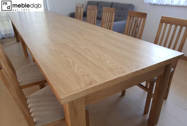 duzy rozkladany stol weselny