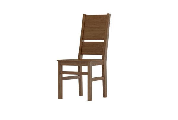 krzesło dębowe z litej deski