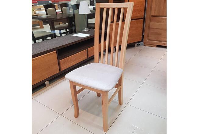 Krzesło BUKOWE - Julia. Kolor naturalny buk. Tapicerka łatwo czyszcząca Focus.