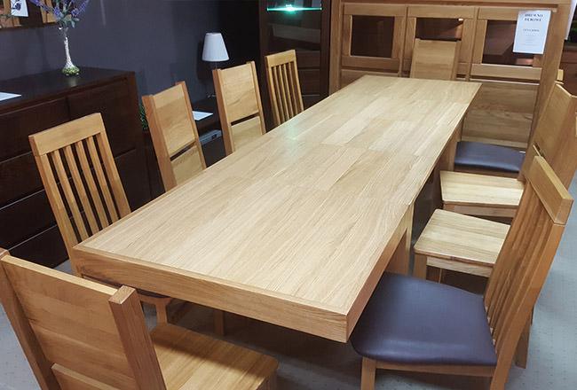 Rozłożony stół dębowy Leo
