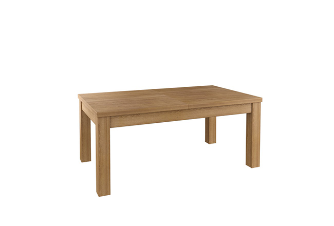 Klasyczny stół dębowy Ernest w kolorze naturalnym