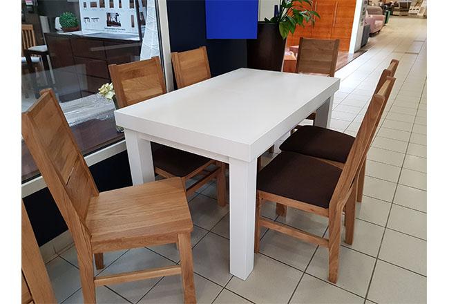 stół dębowy biały