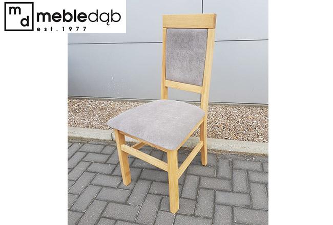Krzesło dębowe Olo w szarej tkaninie Infinity 05 Wheat.