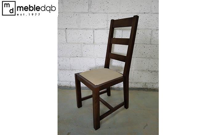 stylowe elegenckie klasyczne krzesla debowe z szczeblami